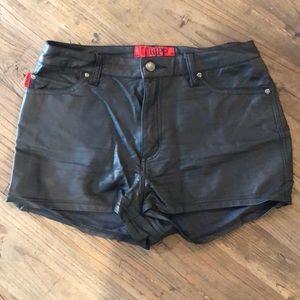 Tripp NYC Vegan Leather Shorts